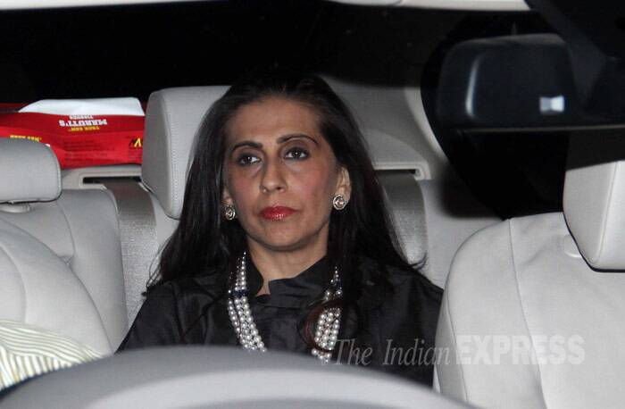 Sonam Kapoor's mother and jewellery designer Sunita  was also seen at the party. (Photo: Varinder Chawla)