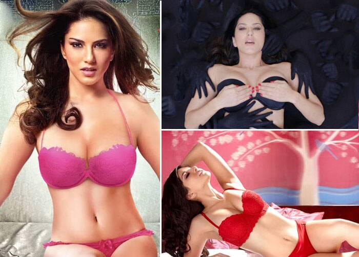 Former adult-film-star turned Bollywood actress Sunny Leone is a seductress in the upcoming horror film 'Ragini MMS 2'. For the poster of the film Sunny Leone donned a hot pink bikini posing for the video cam unaware of the surreal existence behind her. <br /> The makers of the film also released a sneak peak of the song 'Babydoll' from the film which show Suny Leone wore a black bikini. <br />Sunny Leone also showed off her curvaceous body in a red bikini she wore for her debut Bollywood movie Jism 2.