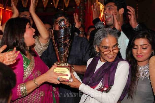 Sidhrath Shukla, Toral Rasputra, Sargun Mehta at 'Balika Vadhu' success party