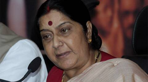 "Sushma Swaraj said Rahul Gandhi was a ""late entrant"" in the anti-graft bandwagon"