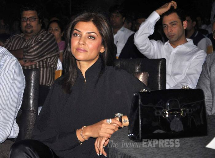 Sushmita is engrossed at the event. (Photo: Varinder Chawla)