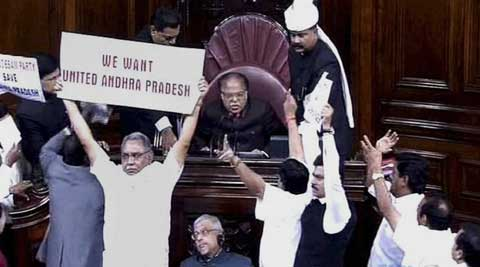 The Lok Sabha Secretariat, it is learnt, has pointed out that dividing Andhra Pradesh would also entail a division of the Andhra Pradesh Legislative Council. (PTI Photo)