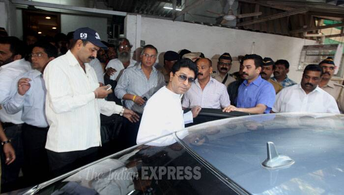 MNS chief Raj Thackeray was detained before being released during his party's uncharacteristically peaceful 'Rasta Roko' agitation against toll collection across Maharashtra after receiving an invitation for talks with Chief Minister Prithviraj Chavan. (IE Photo: Prasant Nadkar)
