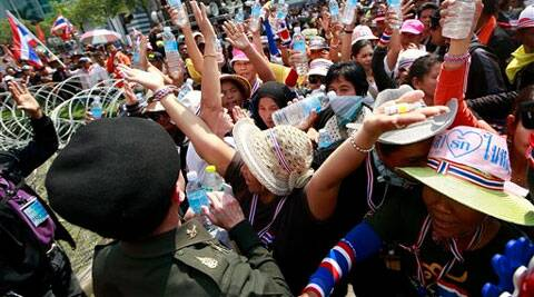 Thai protesters vowed to stage larger rallies in central Bangkok and push ahead their efforts to nullify the results of elections. (AP)