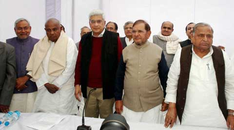 11 parties declared they will work together to present an alternative to the Congress and the BJP. (PTI Photo)