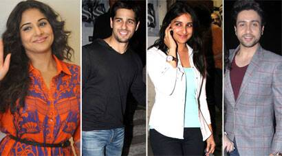 Parineeti, Sidharth, Vidya's busy Friday