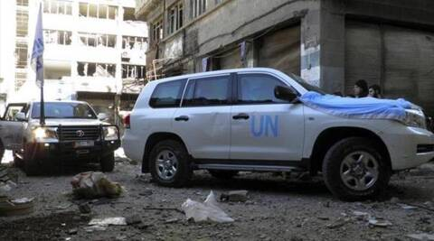 The UN humanitarian operation aimed to deliver medicine and food to around 2,500 trapped people. (Photo: Reuters)