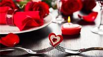 Red, the colour of love, was the theme at many restaurants and joints which had made special arrangements for youngsters.