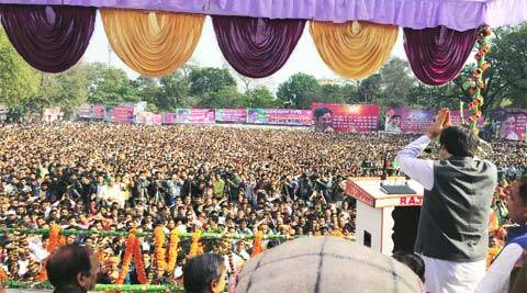 No central or state BJP leader was present at Varun's rally in Sultanpur, Tuesday.