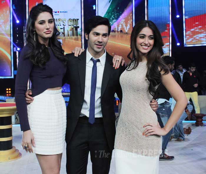 The trio are happy at the promotions. (Photo: Varinder Chawla)