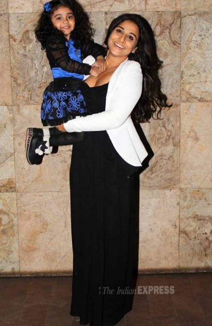 Vidya Balan ready for mommy duties? Watches 'Shaadi Ke Side Effects' with a kid