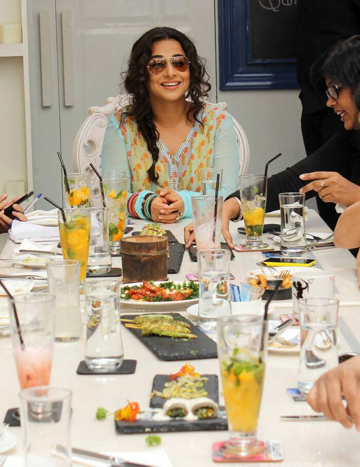 Vidya Balan gets chatty at the brunch. (Photo: Varinder Chawla)