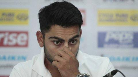 Virat Kohli addresses a press conference ahead of the Asia Cup tournament in Dhaka (AP)