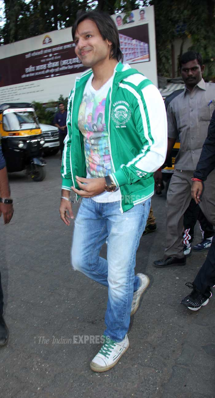 Vivek Oberoi was dressed casually for the marathon. (Photo: Varinder Chawla)