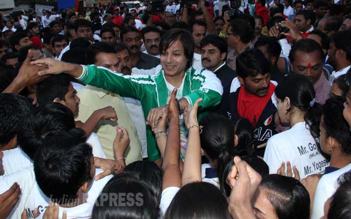 Vivek Oberoi joins his fans for the marathon. (Photo: Varinder Chawla)