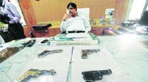 Polls near, cops hunt for illegal weapons incirculation