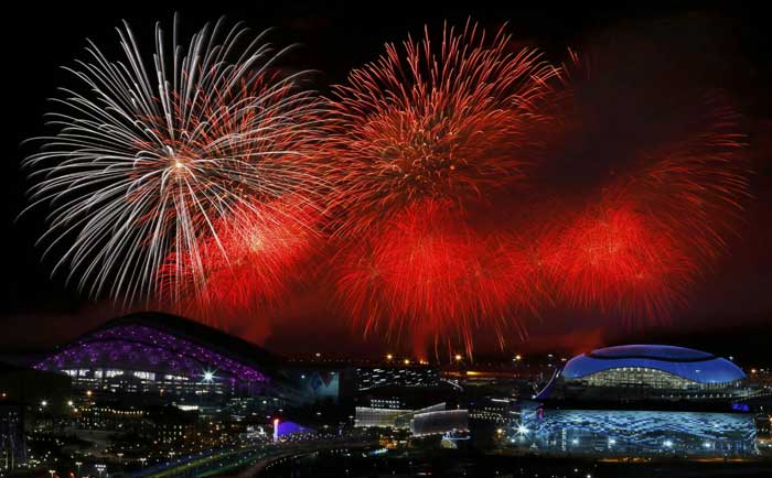 """""""This is the new face of Russia our Russia,"""" said Dmitry Chernyshenko, head of the Sochi organising committee. He called the games """"a moment to cherish and pass on to the next generations."""" (Reuters)"""
