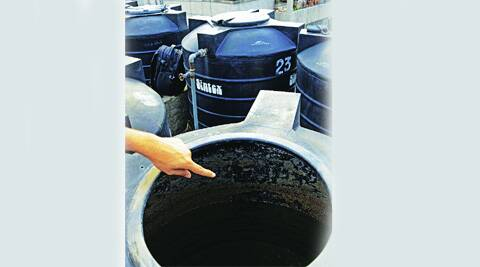 Dirty water tanks at MDC. (Kshitij Mohan)