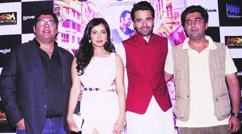 Youngistaan actors Kayoze Irani, Neha Sharma, Jackyy Bhagnani along with their director Syed Afzal Ahmed