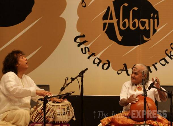 Zakir Hussain, Sivamani perform at 'Homage to Abbaji'