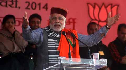 It's Modi's first visit to Himachal Pradesh after being announced BJP's Prime Ministerial candidate.