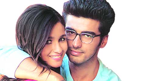 When reel meets real: Arjun Kapoor and Alia Bhatt spend  some cosy moments  on the IIM campus