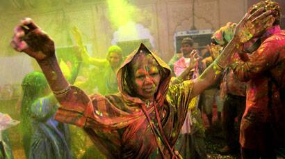 PHOTOS: Vrindavan widows play Holi with colours and gulal