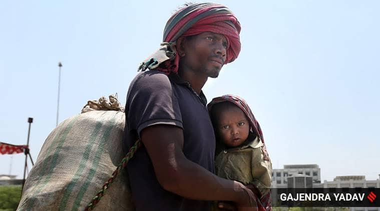 Bihar migrant labourers, India lockdown, migrant labourers, Up migrants rush, sharmik special trains, India coronavirus, India news, Indian Express