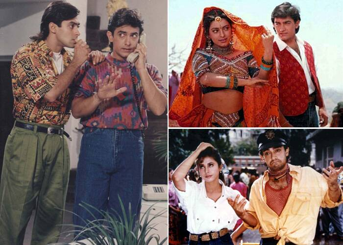 In the 90s' Aamir Khan was seen in several films including 'Hum Hain Rahi Pyar Ke' (1993) and 'Rangeela' (1995). Both these films were highly successful along with 'Andaz Apna Apna' also starring Salman Khan.
