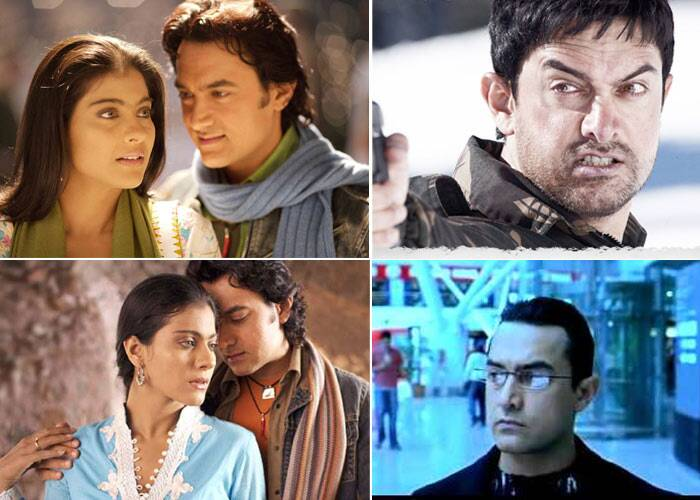 <b>Fanaa (2006)</b>: Aamir Khan took on the role of a baddie in 'Fanna' where he played a terrorist, who falls in love with a blind girl played by Kajol. The film faced the heat of some controversy and was banned in Gujarat, but was a big hit owning to the chemistry Aamir Khan shared with Kajol. 'Fanaa' also earned Aamir a Screen Award nomination for Best Villain.