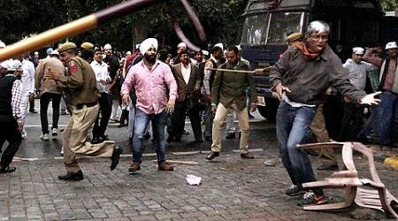 AAP BJP clashes