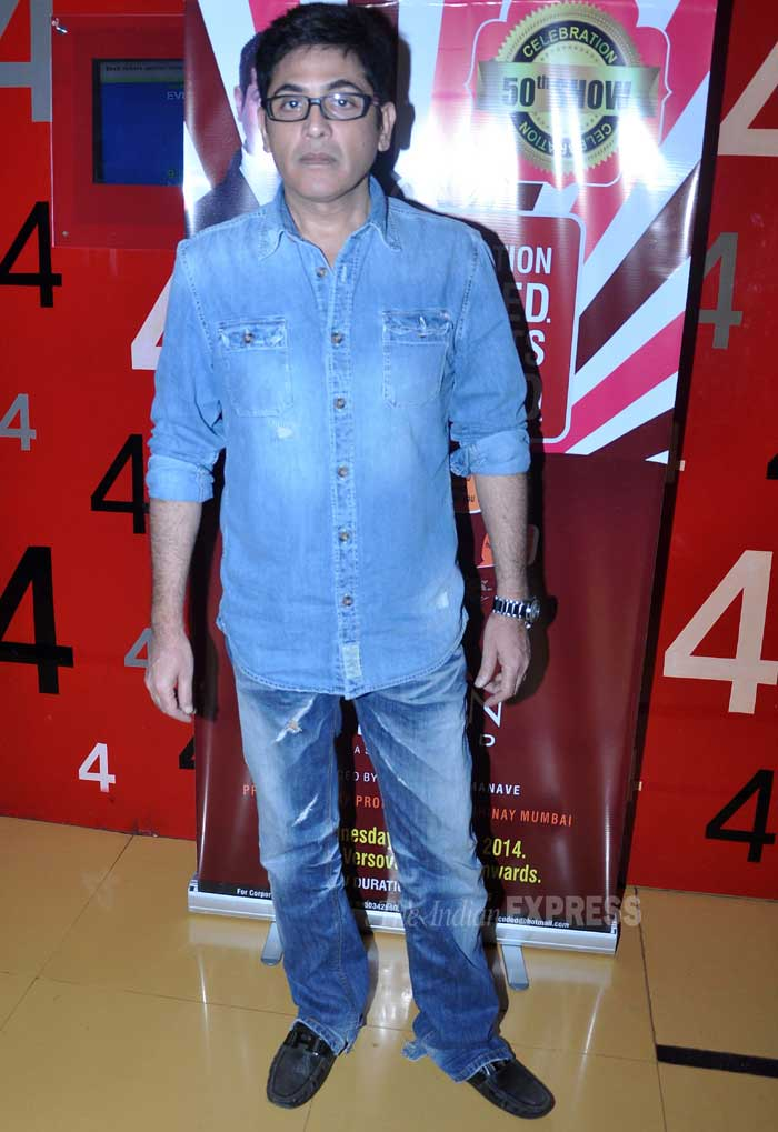 Actor Aashif Sheikh posed for the cameras sans a smile. (Photo: Varinder Chawla)