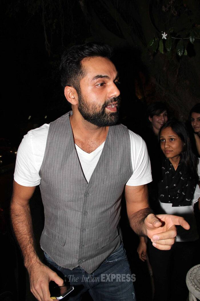 Abhay Deol who was last seen in 'One By Two' was clearly oblivious to the cameras snapping away. (Photo: Varinder Chawla)