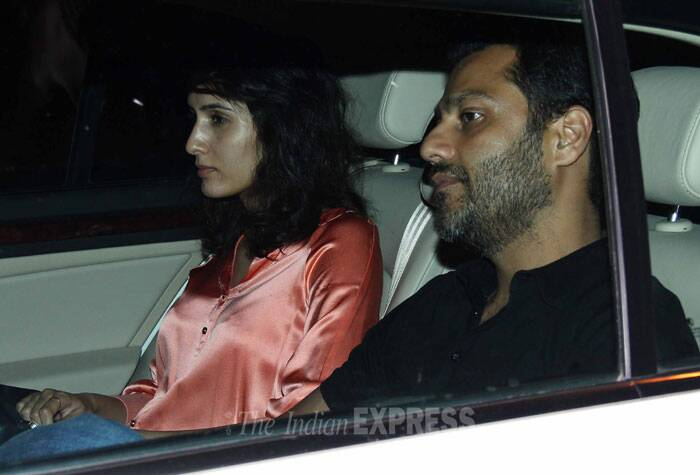 'Kai Po Che' director Abhishek Kapoor arrives with his fiancé Pragya. (Photo: Varinder Chawla)