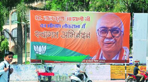 One of the three posters that came up in Bhopal. It was removed around noon.express