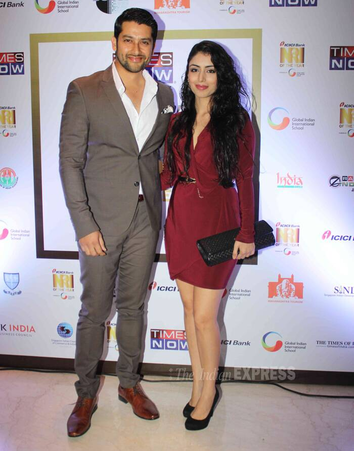 'Grand Masti' actor Aftab Shivdasani was accompanied by his girlfriend Nin Dusanj. (Photo: Varinder Chawla)