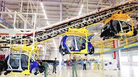 A car factory in Sanand, Gujarat.