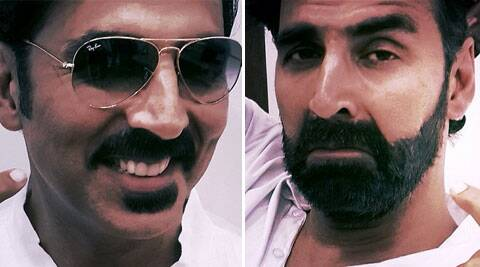 Akshay Kumar was sporting the bearded look for his forthcoming action film 'Gabbar'.