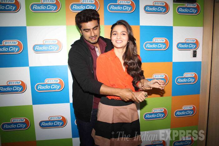 Arjun just cant seem to keep his hands off Alia. (Photo: Varinder Chawla)