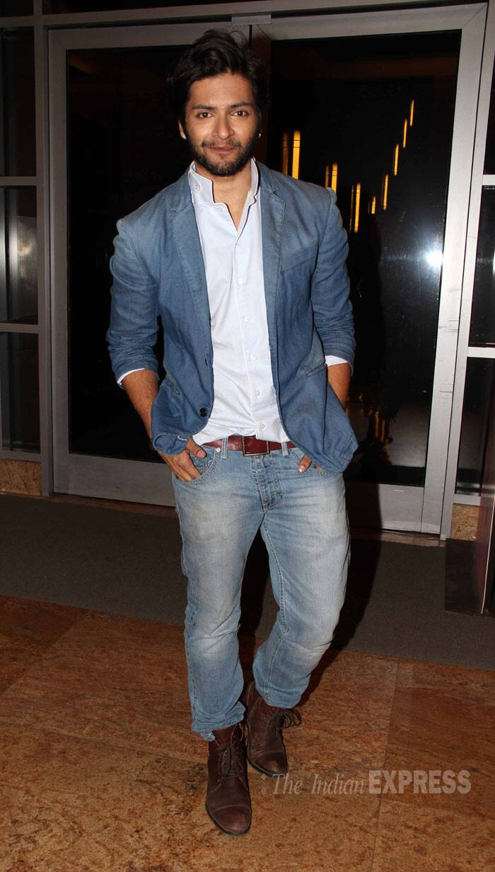 'Fukrey' actor Ali Fazal was hot in a a blazer with a white shirt and denims. (Photo: Varinder Chawla)