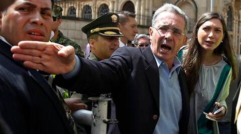Alvaro Uribe's new Centro Democratico party looks to have 20 of the Senate's 102 seats. (AP)