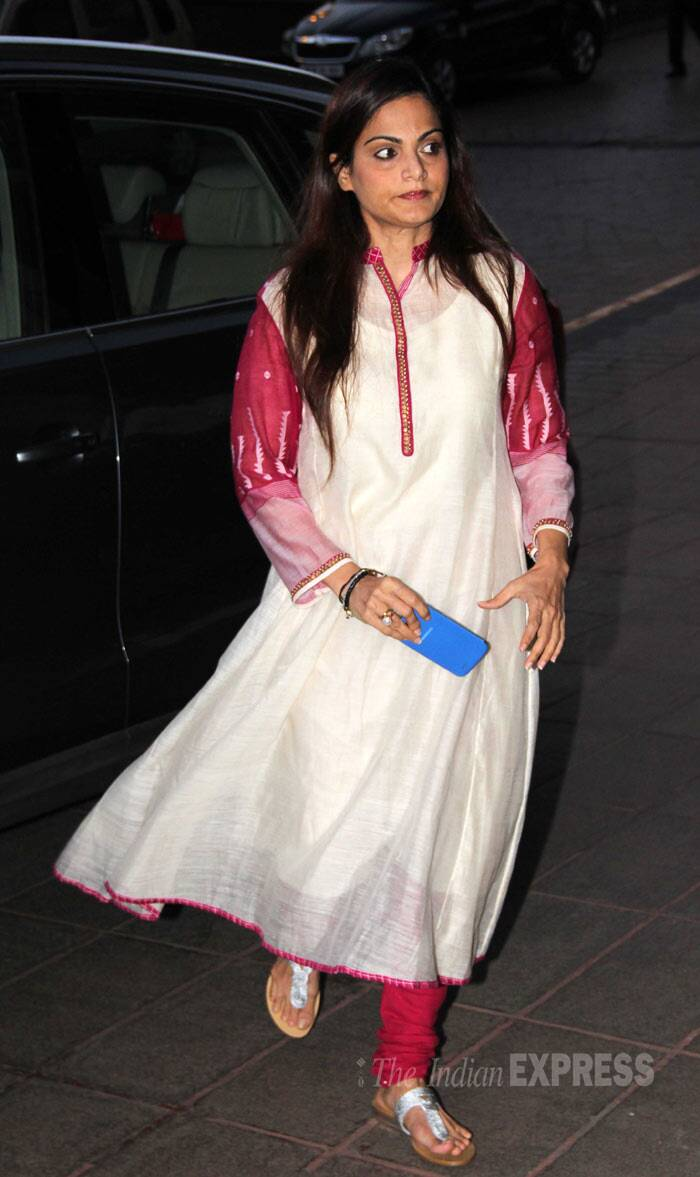 Salman Khan's sister Alvira arrived solo.  (Photo: Varinder Chawla)