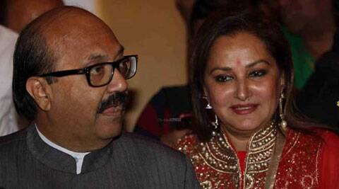 Amar Singh and Jaya Prada were expelled from Samajwadi Party in 2010. (IE Photo: Prakash Yeram)