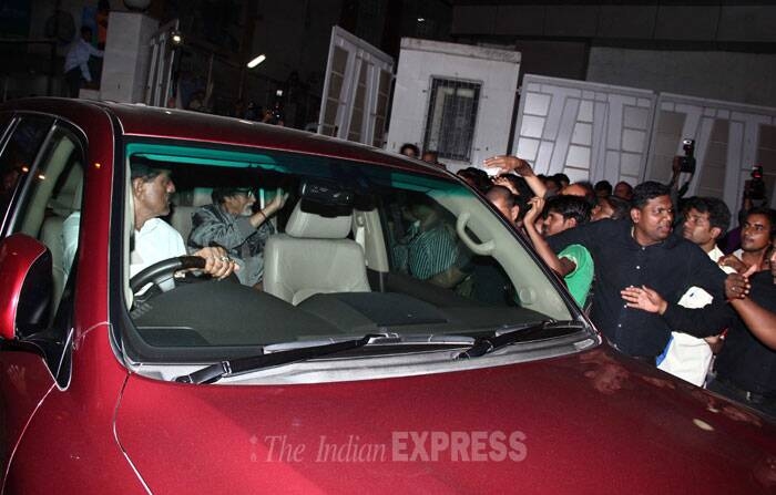 Amitabh Bachchan leaves the venue after the promotions. (Photo: Varinder Chawla)