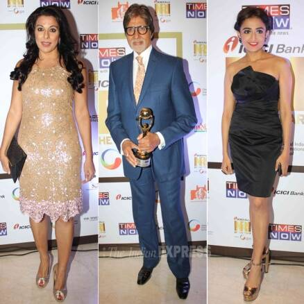 Big B gets suited while Pooja, Monali deck up