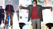 Amitabh Bachchan turns child again, rides scooty on the sets of 'Bhoothnath Returns'