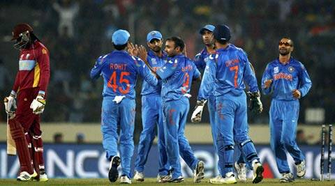 Amit Mishra took two for 18 in his fours overs. It was India's second win after their defeat of Pakistan in the tournament opener (AP)