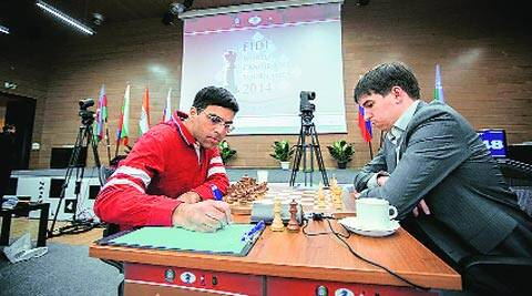 Viswanathan Anand and Dmitry Andreikin played out a draw after 42 moves (Fide.com)