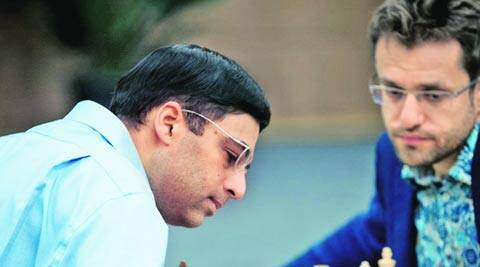 Viswanathan Anand beat Aronian earlier in the tournament and so is ahead on tie-break