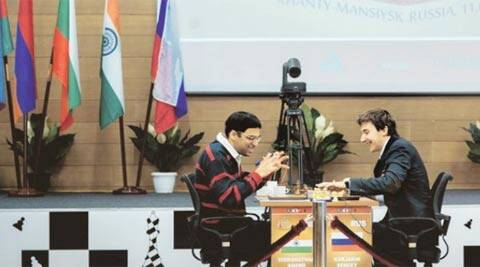 Viswanathan Anand almost paid the price for playing passively in search of a draw but rode his luck against Karjakin (FIDE.com)